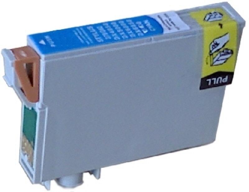 Epson T0712, kompatible Druckerpatronen, mit Chip, cyan, ersetzt 8715946495446 SV1149-+HP932xl-BK
