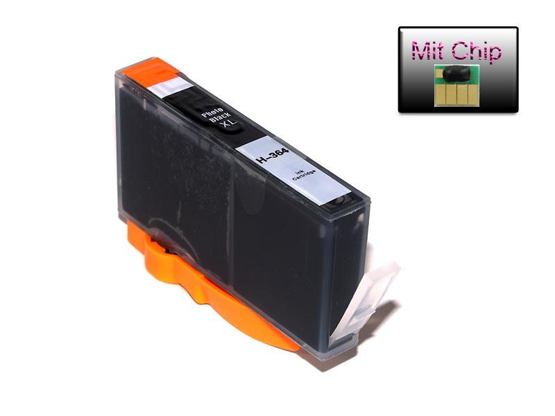Alternative HP 364 XL Tintenpatrone Photo-Schwarz mit Chip und Füllstandanzeige HI-CB322E