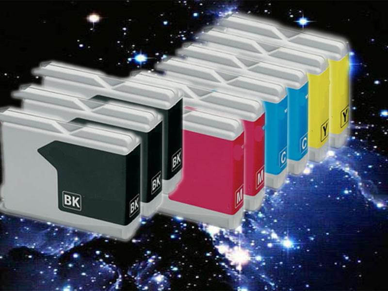 Multipack, 9 kompatible Brother Druckerpatronen LC 1000xxl, mit 37ml Inhalt je Patrone, ersetzt die Brother LC1000BK/C/M/Y multi1000-+HP932xl-BK